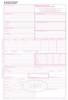 Mezinárodní nákladní list CMR A4, samopropisovací, 5 listů OP1197