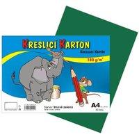 Kreslící karton A4/180g/50 tm.zelená 141022