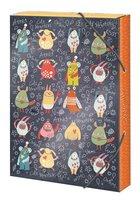 Box na sešity 'Cute monsters' - s gumou A4 Argus     1231-0290