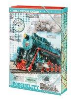 Box na sešity 'Train' - s gumou A5 Argus      1241-0305