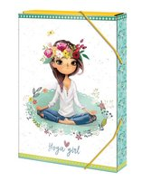 Box na sešity 'Joga girl' - s gumou A5 Argus      1241-0311