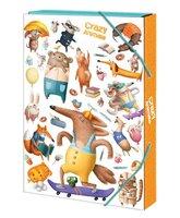 Box na sešity 'Crazy Animals' - s gumou A5 Argus      1241-0312