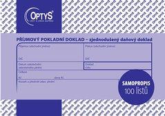 Příjmový doklad A6, zjednodušený, samopropisovací, 100 listů OP1304