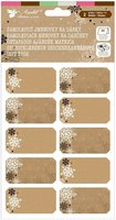 Jmenovky vánoční kraft papír 2 archy 18 x 13 cm, 1319