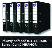 Pořadač pákový HIT A4, KV8R Classic, černý mramor, RADO, 7,5cm, 257.00