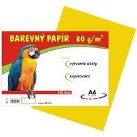Papír A4/80g/100 žlutý, pro výtvarnou výchovu