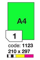 Etikety RAYFILM,A4/100lst(1) 210x297mm, oranžové fluo laser/copy R0133.1123A