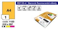 Etikety RAYFILM,A4/100lst(1) 210x297mm,oranžové fluo laser/copy R0133.1123A