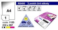 Etikety RAYFILM,A4/100lst(1) 210x297mm,lesklé průhledné PES laser R0400.1123A