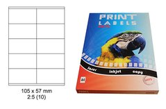 Etikety Print Emy 105x57mm, bílé, 10ks/arch, 100 archů, samolepící