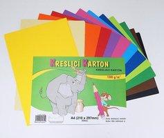 Kreslící karton A4/180g/60 mix 12 barev