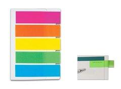 Záložky samolepící CONCORDE - neon - 12x50mm, 5x100 papírových listů, A0983