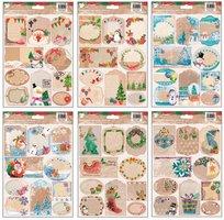 Jmenovky na dárky samolepící přírodní 10 ks, 17x25 cm, 219