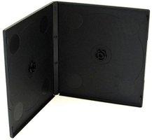 Box na 1 ks CD, měkký plast, černý, tenký, 5.2 mm, 200-pack, cena za 1 ks