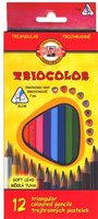 Pastelky 3132/12 TRIOCOLOR triangular lakované
