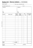 Dodací list - daňový doklad, propisující, 1+1 číslovaný PT142