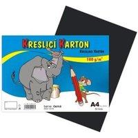 Kreslící karton A4/180g/50 černá 141024