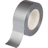 Páska lepící pogumovaná 48mm/50m, voděodolná, textilní, stříbrná