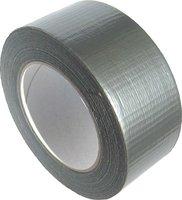 Páska lepící pogumovaná 48mm/10m, voděodolná, textilní, stříbrná   130-1716