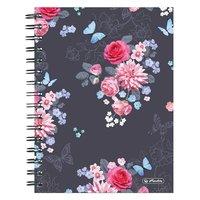 Spirálový blok LADY Like - A5/100 listů čtvereček, Květiny