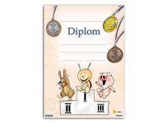 Dětský diplom A4 -  Zvířátka na stupních vítězů         5300443