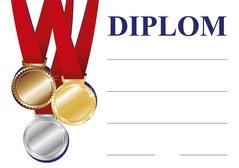 Diplom A4 Vítěz BD136