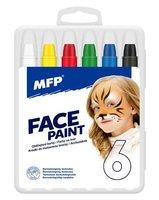 Barvy na obličej   6ks      6330538 MFP