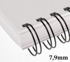 Hřbet kroužkový drátěný  3:1, 7,9mm ,černý,         pro 36-50listů, 1ks/100