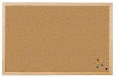 Tabule KORKOVÁ Board-WCD-3, 60x90cm jednostranná, hnědá, ve dřevěném rámu,