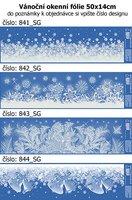 Vánoční okenní fólie 50x14cm, 841,842.844