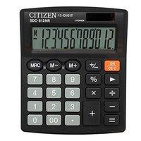 Kalkulačka CITIZEN SDC812NR, černá, stolní, dvanáctimístná, duální napájení