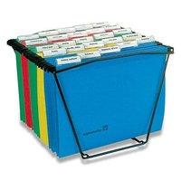 Drátěná přenosná kartotéka na 25 ks zakládacích desek,  340š x 260v x355h mm.