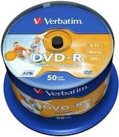 DVD-R VERBATIM Printable  43533 50-pack, 4.7GB, 16x, 12cm,