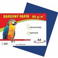 Papír A4/80g/100 tmavě modrý - pro výtvarnou výchovu
