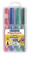 Značkovač FLIPCHART 8550/4, SE sada, 2,5mm, válcový hrot, vodní, CENTROPEN