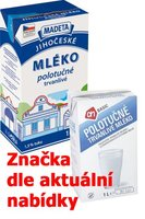 Mléko trvanlivé polotučné 1,5% 1l
