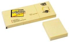 Bloček samolepící AURO, 40x50mm, 3x100 listů, žlutý pastel