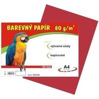 Papír A4/80g/100 červený, pro výtvarnou výchovu