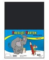 Kreslící karton A3/180g/50 černá 131023