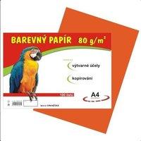 Papír A4/80g/100 oranžový, pro výtvarnou výchovu