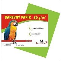 Papír A4/80g/100 zelený, pro výtvarnou výchovu
