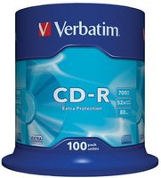 CD-R VERBATIM 43411, DataLife, 100-pack, 700MB, Extra Protection, 52x, 80min., 12cm,