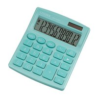 Citizen kalkulačka SDC812NRGNE, tyrkysová, stolní, dvanáctimístná, duální napájení