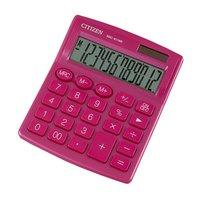 Citizen kalkulačka SDC812NRPKE, růžová, stolní, dvanáctimístná, duální napájeníní