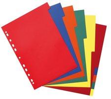 Registr, rozřaďovač HERLITZ A4/10dílů,barevný,10 barev 10715415