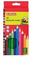 Pastelky HERLITZ - JUMBO silné, 10 barev             10795276