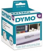 Papírové štítky  DYMO 89 x 36mm, bílé, velké, 2x260 ks, 99012, S0722400