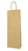 Taška dárková KRAFT - na lahev, papírová 14 x 39 x 8,5cm