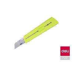 Nůž 169mm odlamovací DELI E2040 zelený