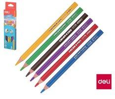 Pastelky DELI trojhranné JUMBO  6 barev Color Kids EC00660